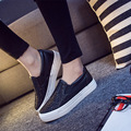 Hot Sale 2016 Spring New Fashion Woman Loafers Korean Style Sequin Flat Casual Shoes Wild Concise Lazy Shoes Black Silvers ST361