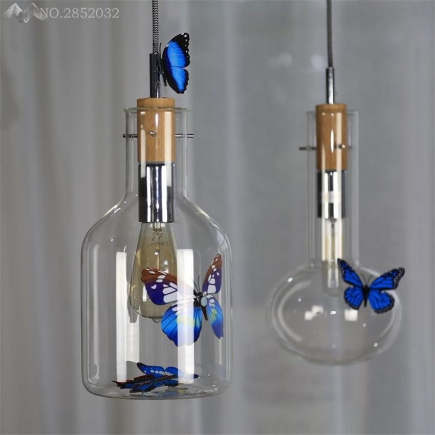 Nordic simple modern Glass bottles pendant lamp Glass pendant light for living room bedroom cafe home lighting fixtures decor|glass pendant light|pendant lights|light fixtures - title=