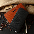 New Crocodile Leather  Long Wallet Zipper Wallet high-end men's fashion fashion handbags Men Cluthch Wallet