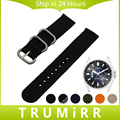 18mm 20mm 22mm nylon watchband cinta zulu para citizen homens mulheres Faixa de Relógio Lona Cinto de Tecido Pulseira De Pulso Preto Azul marrom