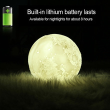 USB 3D Moon Lamp with Humidifier for Bedroom Decor