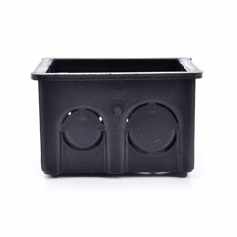 86 Cassette Wall Plate Box For 86 Type Wall Plate Switch And Socket Stair Step Light Lamp Lighting Black Mounting Box