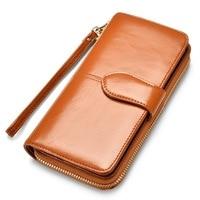 New Brand Women Wallet Dollar Price Lady Party PU Leather Purse Wallet Female Wax Oil Skin