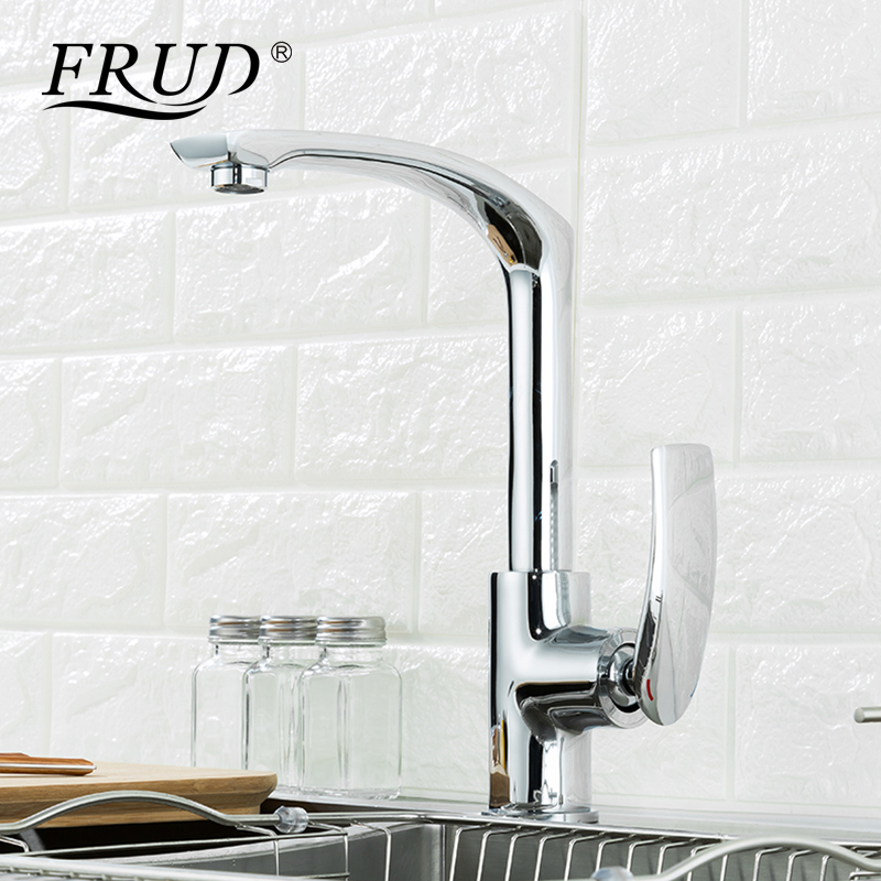 Frud robinet de cuisine argent rotatif robinet de salle de bain mitigeur cuisine chaude et froide mitigeur lavabo FaucetY40068-5