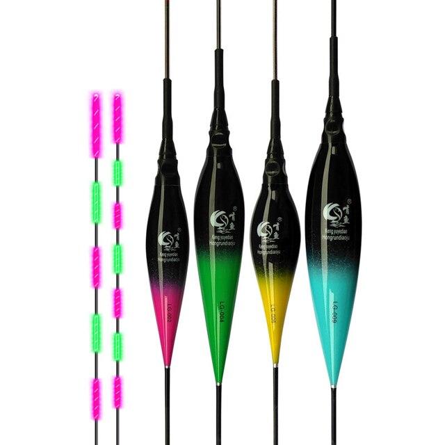 高品質発光釣りフロート輝度カラフルなライト LED フローター高賢明な電子釣り浮きブイアクセサリー