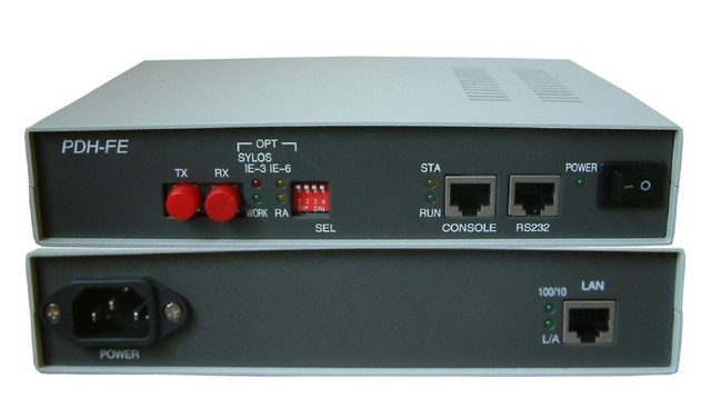 Hightek hk-5118 HT-017 Ethernet a la fibra óptica módem con RS232 PHD a Ethernet