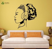 YOYOYU Wall Decal Vinyl Art Room Decoration Sticker Teen Girl Music Headphones DIY Removeable Decor Mural YO428