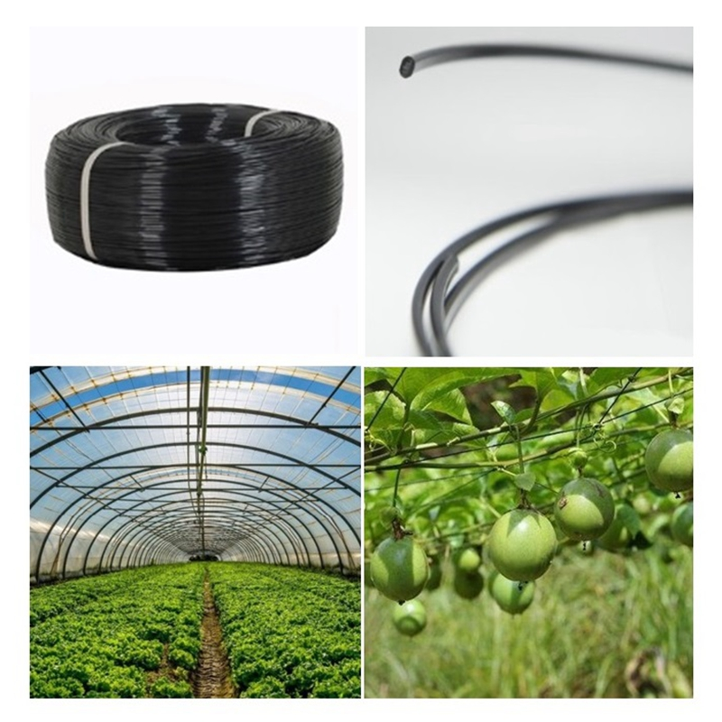 50m Plastic Steel Wire Agriculture Greenhouse Pressed Film String Shading Net Garden Plant Climbing Vine Holder Supporting Line