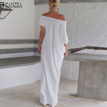 Zanzea Fashion Women Summer Dress 2018 Boho Casual Irregular Long Maxi Party Dresses Sexy Solid Vestidos Plus Size S-5XL