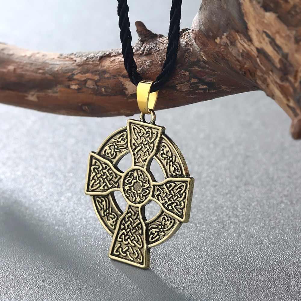 Cxwind Vintage ormiański krzyżowy węzeł naszyjnik talizman słoneczna Celtics ormiański Druid Amulet wisiorki naszyjniki biżuteria dropshipping