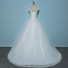 New Style V-Neck Sweep Brush Train Tank Sleeve Wedding Dress