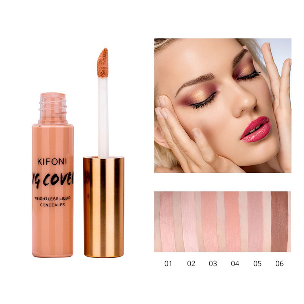 KIFONI Face Corrector Full Cover Makeup Liquid Concealer Cream Make Up Base For Eye Dark Circles Facial Natural Cosmetic TSLM2