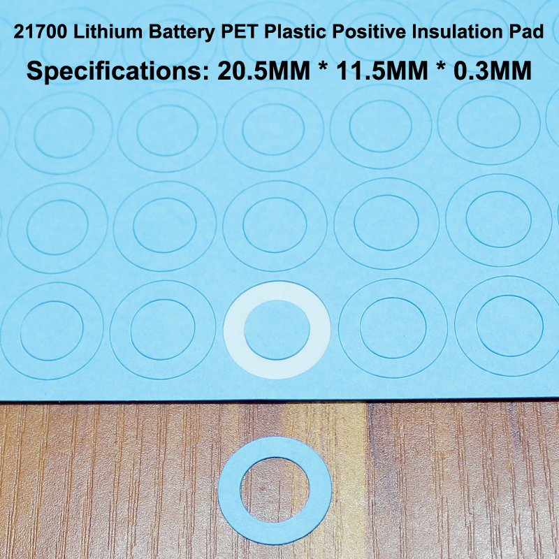 100pcs lot 21700 Lithium Battery Positive Insulation Pad Flat Head Hollow Mat Meson Paste Gasket 20mm 11 5mm in Replacement Parts Accessories from Consumer Electronics