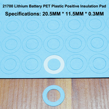 100pcs/lot 21700 Lithium Battery Positive Insulation Pad Flat Head Hollow Mat Meson Paste Gasket 20mm*11.5mm