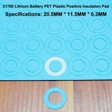 100pcs/lot 21700 Lithium Battery Positive Insulation Pad Flat Head Hollow Mat Meson Paste Gasket 20mm*11.5mm