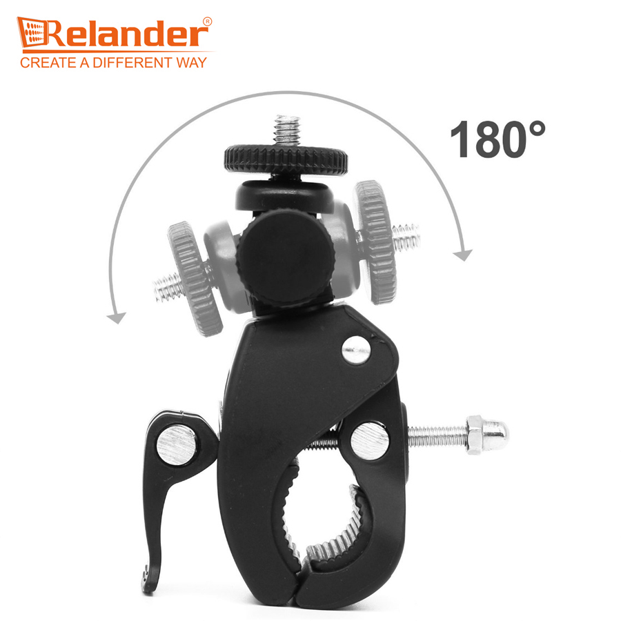 Crelander Sports Action Cam Accessories Quick Clip Handlebar Knob Mount Tripod Adaptor for EKEN H9 Gopro Xiaomi Action Camera