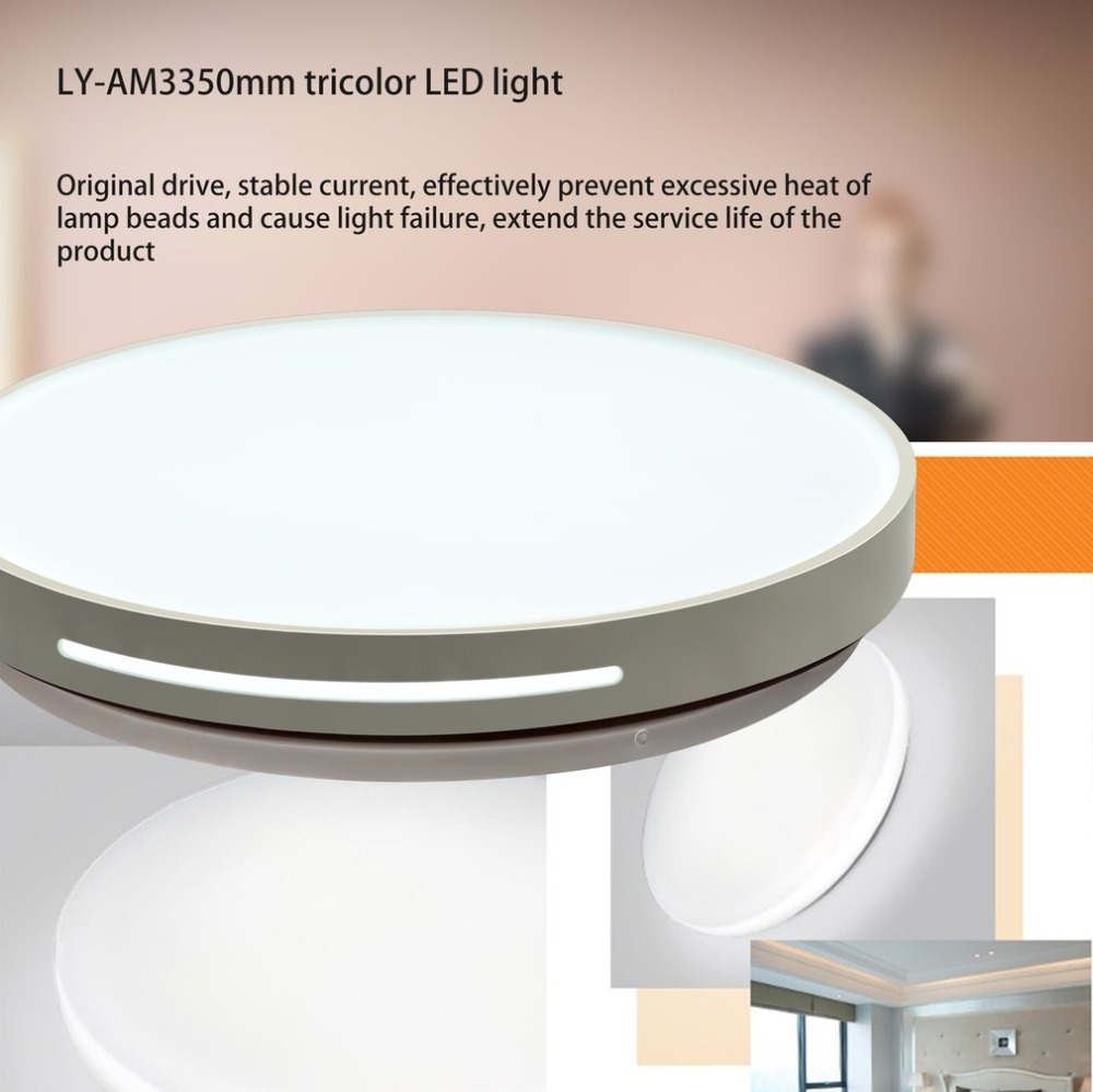 Ceiling Lights Provided New Ly-am4450mm Tricolor Led Light Adjustable Temperature Brightness Acrylic Lampshade Livingroom