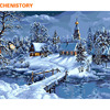 Unframed Christmas Snow Landscape DIY Painting By Numbers Kits Drawing Painting By Numbers Unique Christmas Gift