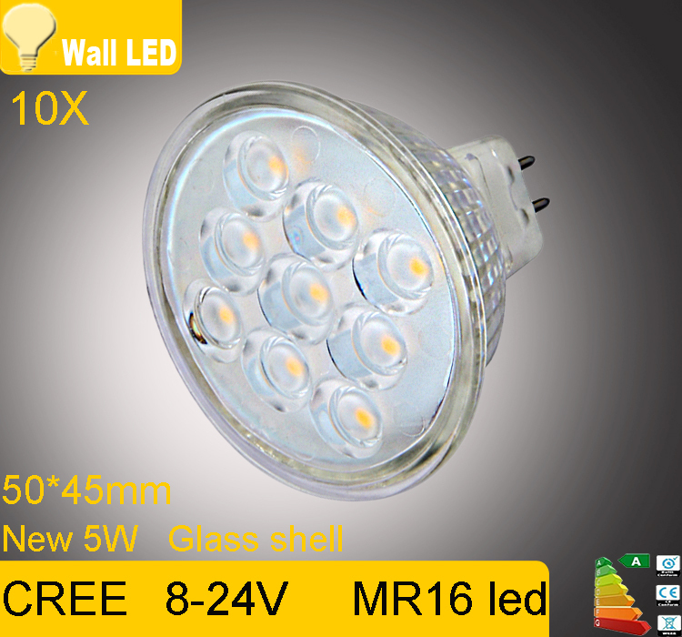 new high lumen cree mr16 gu5 3 led spot light lamp 12v 5w. Black Bedroom Furniture Sets. Home Design Ideas