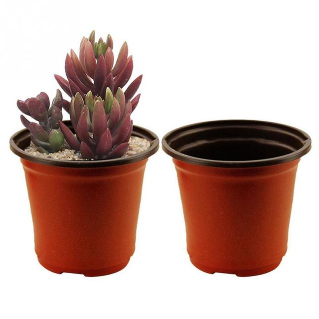5pcs double color plastic garden flower pot mini flowerpot home