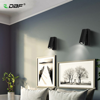 [DBF]Modern 360 Degrees LED Rotated Wall Lamp with Switch Bedside Bedroom Living Room Aisle Sconce Light Fixture Wall Decor Art