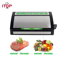 ITOP Vacuum Sealer Automatic Food Packing Machine with Starter Kit 1 roll bags Best for Household Food Saver Dry & Moist