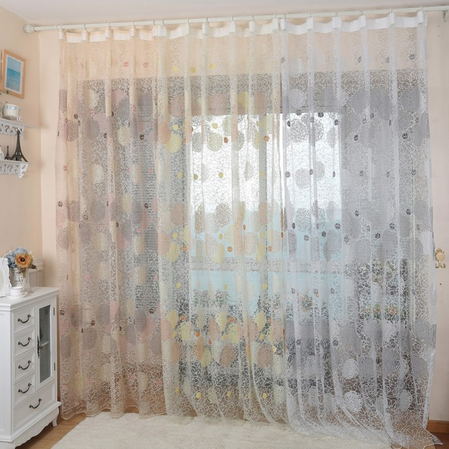 NAPEARL Rustico cerchio disegno di tulle tende della finestra di screening balcone moderno sheer trasparente tessuto di organza personalizzato soggiorno camera