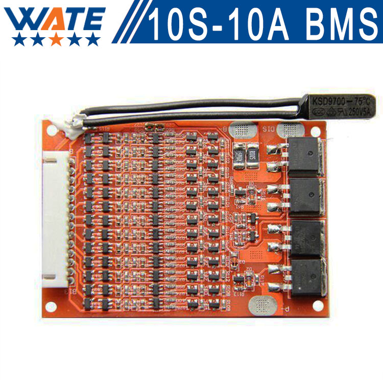 10S 36v Battery Protection BMS PCB Board for 10 packs 36 V Li-ion Mobile max 10A with electric modified Balance Free shipping 10s 36v li ion lithium cell 40a 18650 battery protection bms pcb board balance r179t drop shipping