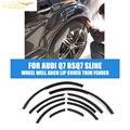 PU Черный Цвет Узкая Полоска Колеса Арка Крышкой Для Губ отделка Fender Flare Для Audi Q7 RSQ7 Sline 2010-2013 Автомобилей укладки
