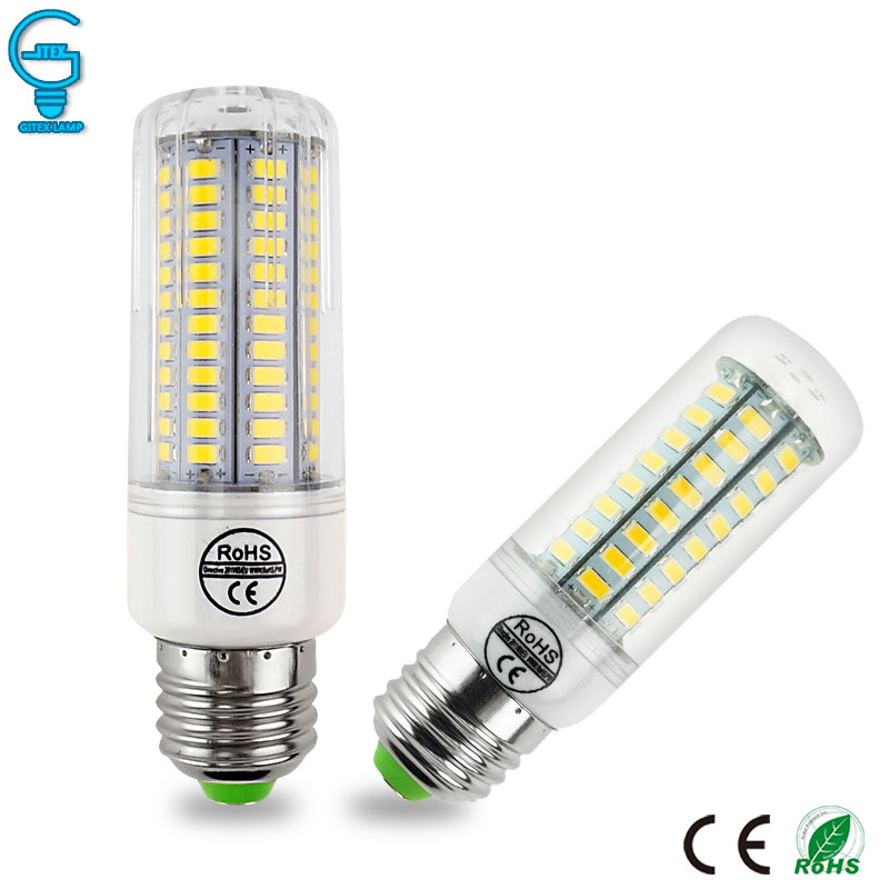 LED Corn Bulb E27 E14 G9 LED Lamp 220V 110V LED Bulb Light 24 36 48 56 69 LEDs Chandelier Candle Ampoule Bombillas Lampada