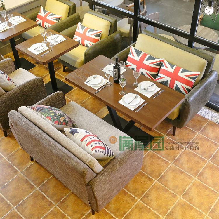 Retro Restaurant Cafe Sofa Spell Color Personalized Leather Sofas American  Casual Theme Restaurants Restaurants Furniture On Aliexpress.com | Alibaba  Group