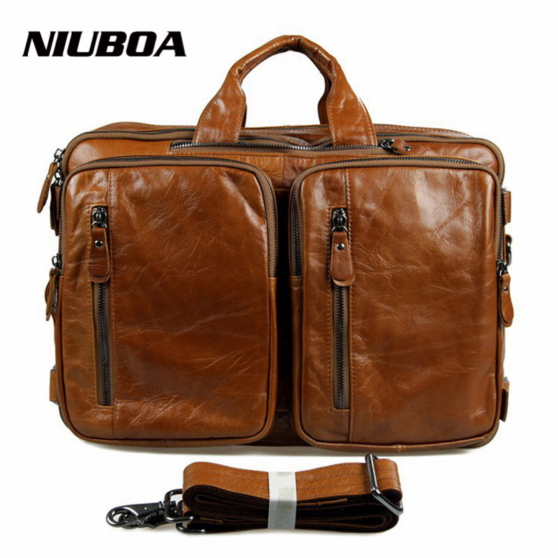 Genuine Leather Men Bag Totes Handbags Men Messenger Bags Multi Function Cow Leather Cowhide Briefcase 15.5 Laptop Shoulder Bag 10piece 100% new m3054m qfn chipset