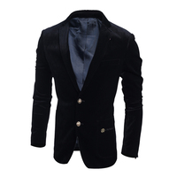 Corduroy Men Suits Slim Custome Tuxedo Work Office Business Suit Tailor Suit Blazer Formal Groom Wedding