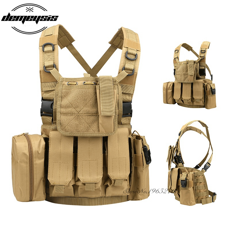 Lightweight Outdoor CS Vest Military Equipment 600D Nylon Vest Hunting Cloth Tactical War game Molle Hunting Vest protective outdoor war game military tactical face shield mask