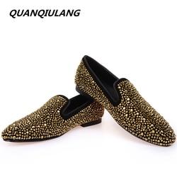 Brand designer man golden diamond shoes 2016 new genuine leather fashion men s flats prom male.jpg 250x250