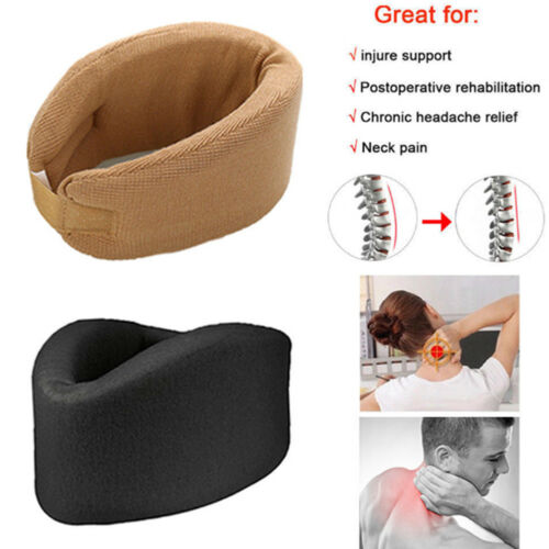Soft Foam Cervical Collar Neck Brace Support Shoulder Pain Relief Therapy Relax Women Men Solid Fashion Neck Brace