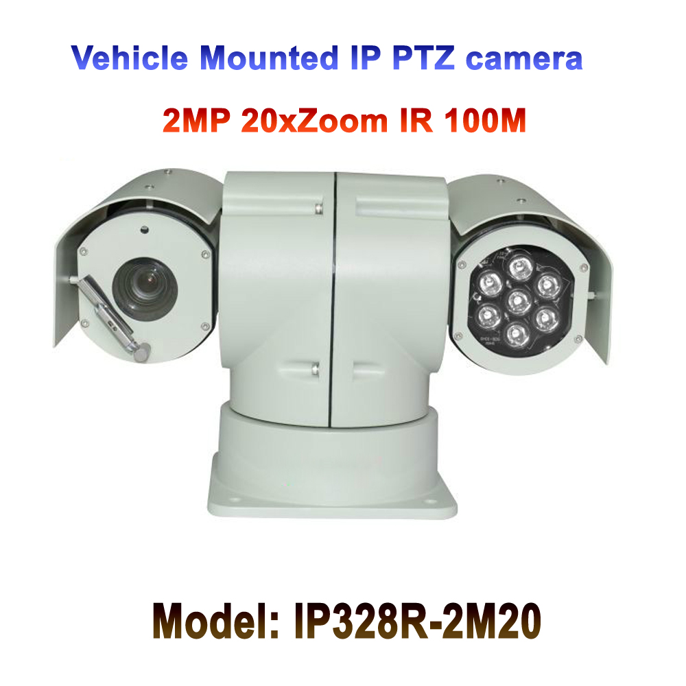 2mp 20x optical zoom ip POE Mobile vehicle mounted ptz camera IR Speed Surveillance for Car Mobile Vehicle Truck Ship Boat Bus 8x zoom optical mobile phone telescope camera white