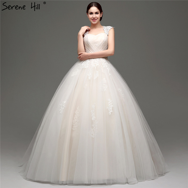 Simple Wedding Dresses Vogue: 2019 Fashion Sexy Tulle Wedding Dresses Light Champagne