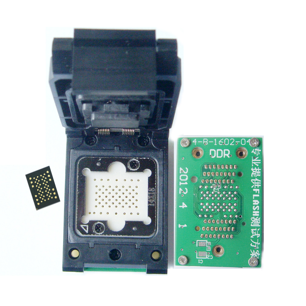 LGA 52 à TSOP48 adaptateur LGA52 sonde broche tour TSOP48 scoket NAND flash Sedum Apple 4 siège dur pour les tailles 12*17mm, 14*18mm