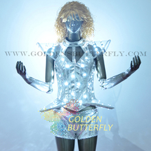 LED Suits Luminous Costumes Glowing LED Clothing 2015 Hot Fashion Show Men LED Shorts Dance Accessories Free Shipping