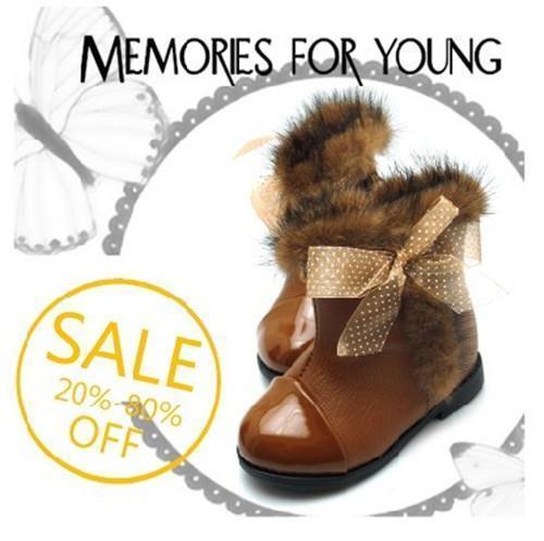 2016 Nuevo Invierno Zapatos de Los Niños Zapatos de Los Niños Mariposa Muchachas de La Princesa Botas de Nieve de Algodón acolchado Bebé Caliente