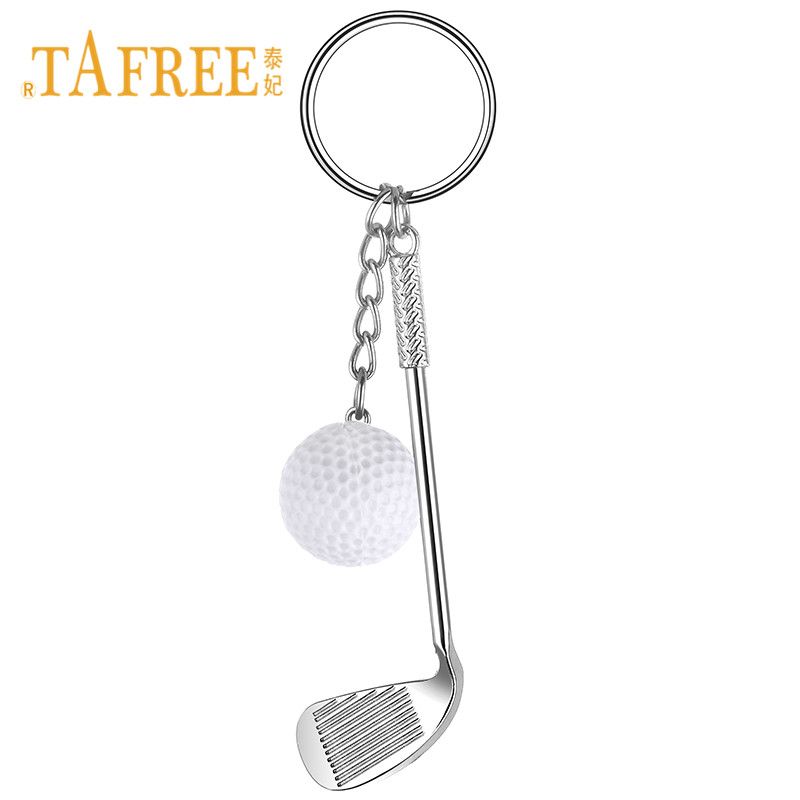 TAFREE Simulation Golf Brassie Keychain Keyrings Sporting Supplies Gym Club Gift Keyrings Golf Lover Jewelry YY18
