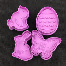 DIY butterfly birds bunny Easter egg biscuit cake decoration baking mold  Plastic spring biscuits die A196