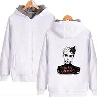 Winter Men Hoodies Sweatshirts xxxtentacion revenge Hip Hop Hoodie Thick Warm Zipper Hooded Jacket Coat Mens Clothing Streetwear