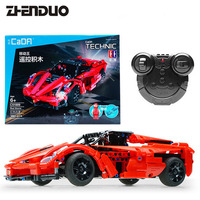 ZhenDuo Toys C51009 2.4G RC Car Remote Control Blocks Building Kit DIY Puzzle Assembley Radio Controlled Cars with Battery