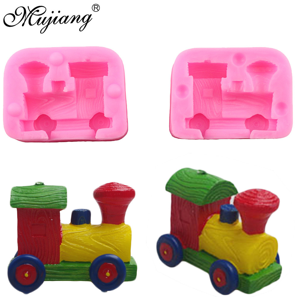 Punctual Mujiang 3d Train Candle Silicone Molds Resin Clay Soap Mold Baby Birthday Cake Decorating Fondant Mould Chocolatecandy Moulds High Resilience Arts,crafts & Sewing