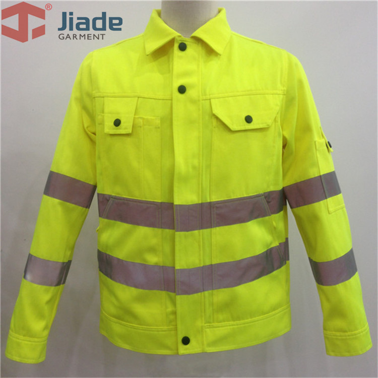 Jiade Adult High Visibility Jacket Long Sleeve Jacket Men's Work Reflective Jacket HV Orange/Yellow/Pink free shipping