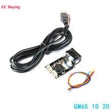 GM65 1D 2D barkod okuma kartı QR kod tarayıcı okuyucu modülü USB URAT DIY elektronik kiti kablo konnektörü ile CMOS