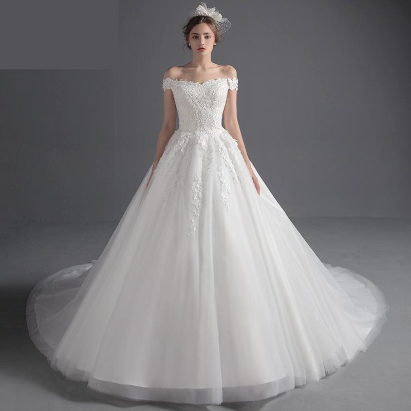 Wedding Gown For Pregnant Bride: Maternity Wedding Dresses Long Train For Pregnant 2019 Off