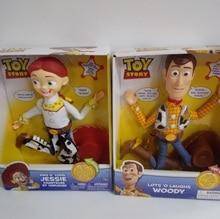 Pixar oryginalny toy story 4 części śmieje się drzewno rozmowy/śpiewać Jessie pcv Action figurka model kolekcjonerski prezent elektryczny pluszowy zabawki